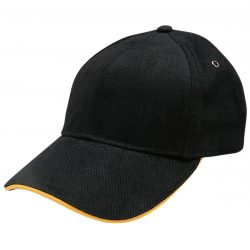 Heavy Brushed Cotton Sandwich Peak Cap