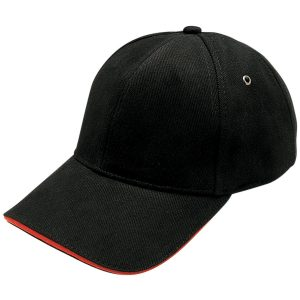 Heavy Brushed Cotton Sandwich Peak Cap