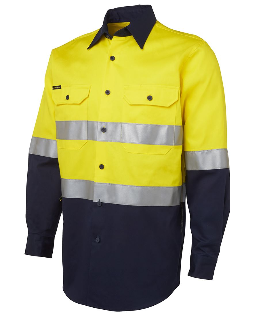 Hi vis drill work shirt d n for Hi vis t shirt printing
