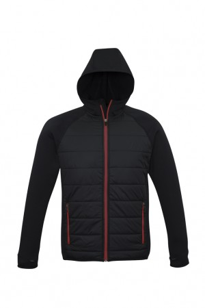 Stealth-Tech Hybrid Puffer Jacket