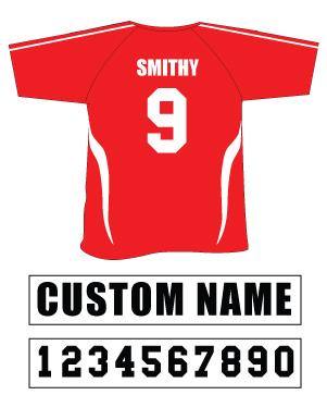 Versatex Custom Names and Numbers