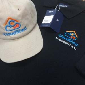 EMBROIDERY: Best for business shirts, polos, caps and jackets