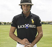 A polo player wearing a modern polo shirt