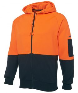6HVH-jbs-wear-hi-vis-fleecy-hoodie-orange-navy-profile