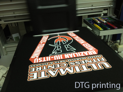 DTG printing in action