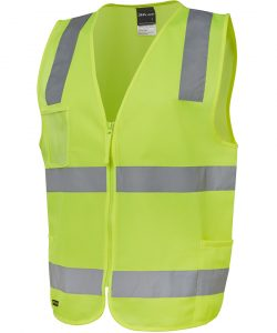 6DNSZE-lime jbs wear hi vis day night safety vest with zip front profile