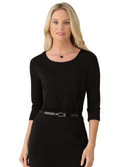 Smart Knit 3/4 Sleeves Top by City