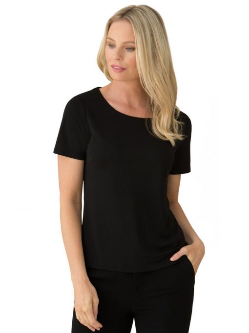 Smart Knit Short Sleeve Top by City