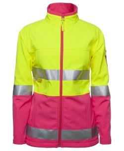 Hi-Vis (D+N) Ladies Softshell Jacket