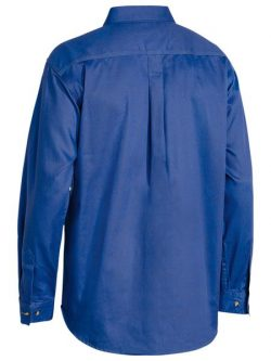 Bisley Closed Front Cotton Drill Shirt