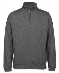JB's Cotton Rich 1/2 Zip Fleecy Pullover